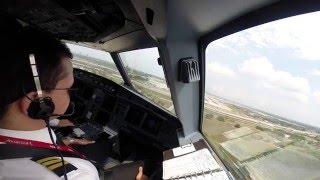 Landing at Fort Lauderdale-Hollywood International Airport (KFLL), Airbus A320-214 N763AV Avianca