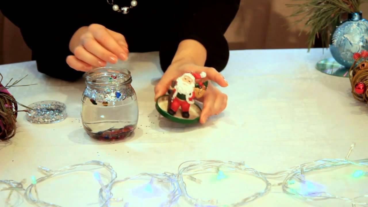 Как сделать новогодней шар своими руками