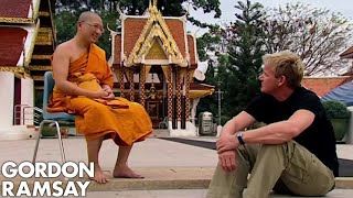 Gordon Ramsay Attempts To Meditate With A Buddhist Monk | Gordon's Great Escape