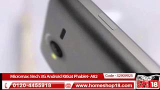 Micromax A82 5inch 3G Android Kitkat Phablet- HomeShop18.com