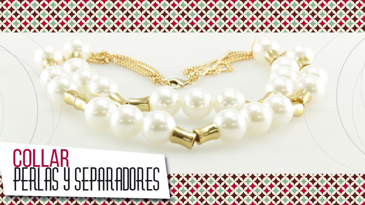 c1acceef99cd Como hacer collar en perlas con herrajes dorados