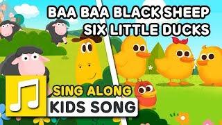 BAA BAA BLACK SHEEP / SIX LITTLE DUCKS | SING ALONG | Nursery Rhymes | LARVA KIDS Songs for Children