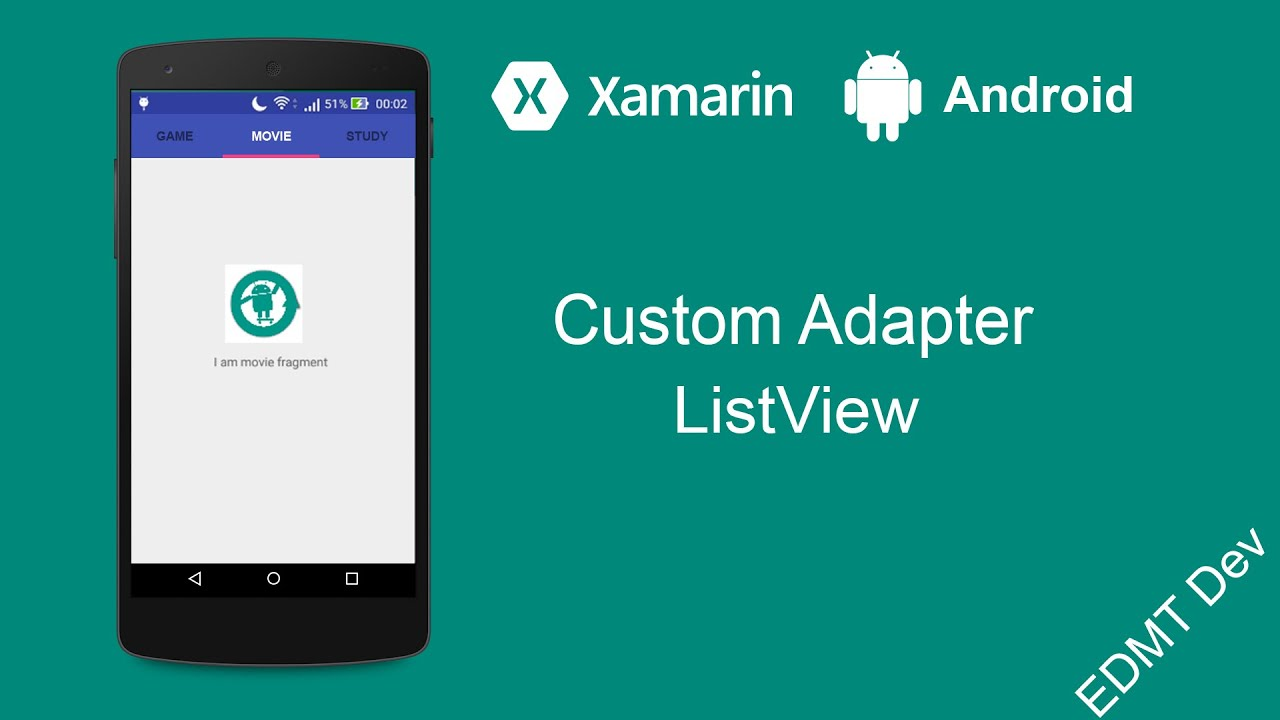 Xamarin Android Tutorial - Custom Adapter ListView