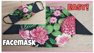 Fast and Easy Face Mask Pattern No fog on Glasses Face Mask Sewing Tutorial