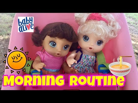 Thumbnail: NEW Baby Alive snackin Noodles MORNING ROUTINE and NAME REVEAL