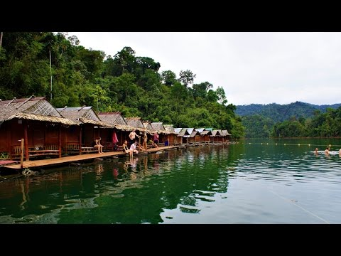 Floating Raft Houses on Cheow Lan Lake Khao Sok National Park