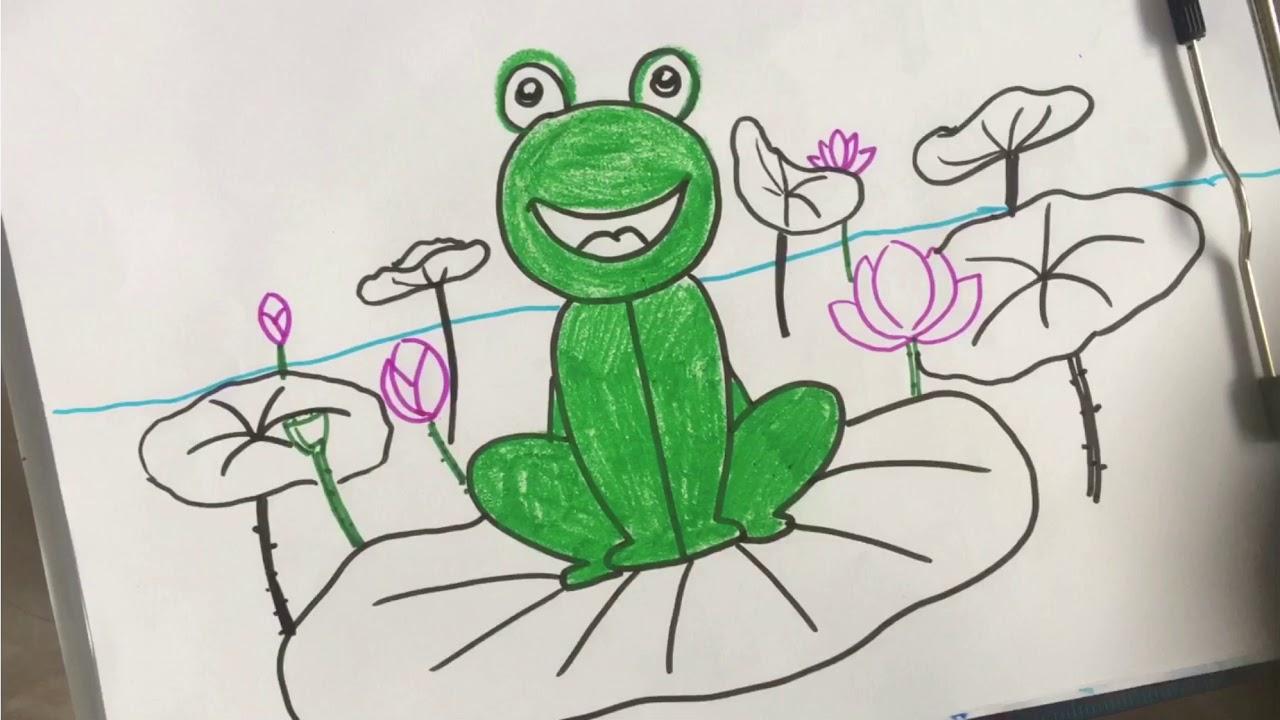 Cùng vẽ con ếch nào :)-how to draw frogs