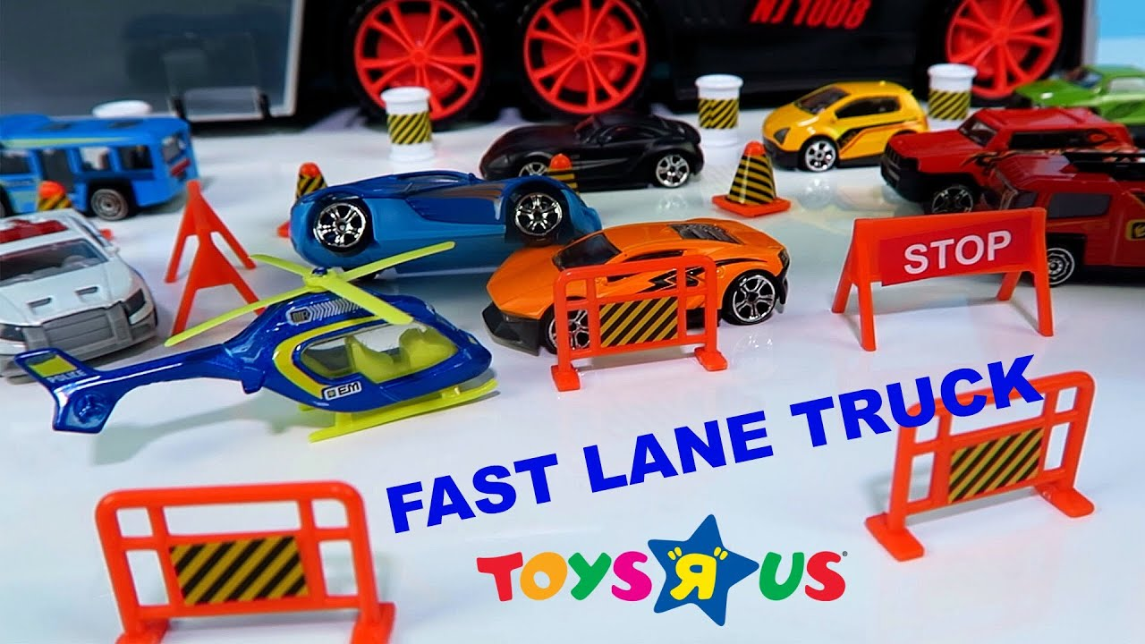 FAST LANE TRUCK CARRYING CASE By TOYS R US - YouTube