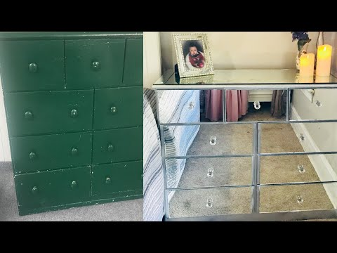 Diy Mirrored Dresser|Revamp $20!