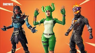 FORTNITE 8.20 - NEW INGAME SKINS LEAKS: EMOTES, BACKBLINGS (Molten Valkyrie, Sea Wolf, Shaman...)