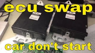Subaru ECU swap car don't start and wrong vin