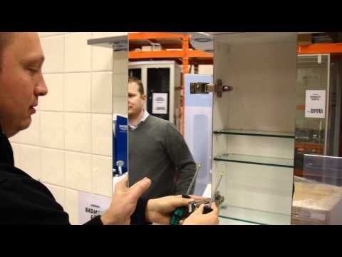 How to change door on Naxos, Santorini, Icaria and Anafi mirror cabinets
