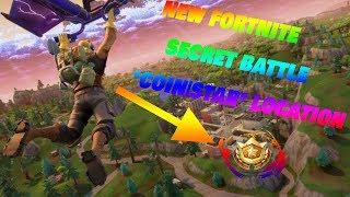 "NEW FORTNITE SECRET BATTLE ""COIN"" STAR LOCATION! Follow The Treasure Map On Snob beaches!"