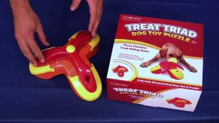 Dog Games Puzzle Toys - Treat Triad thumbnail