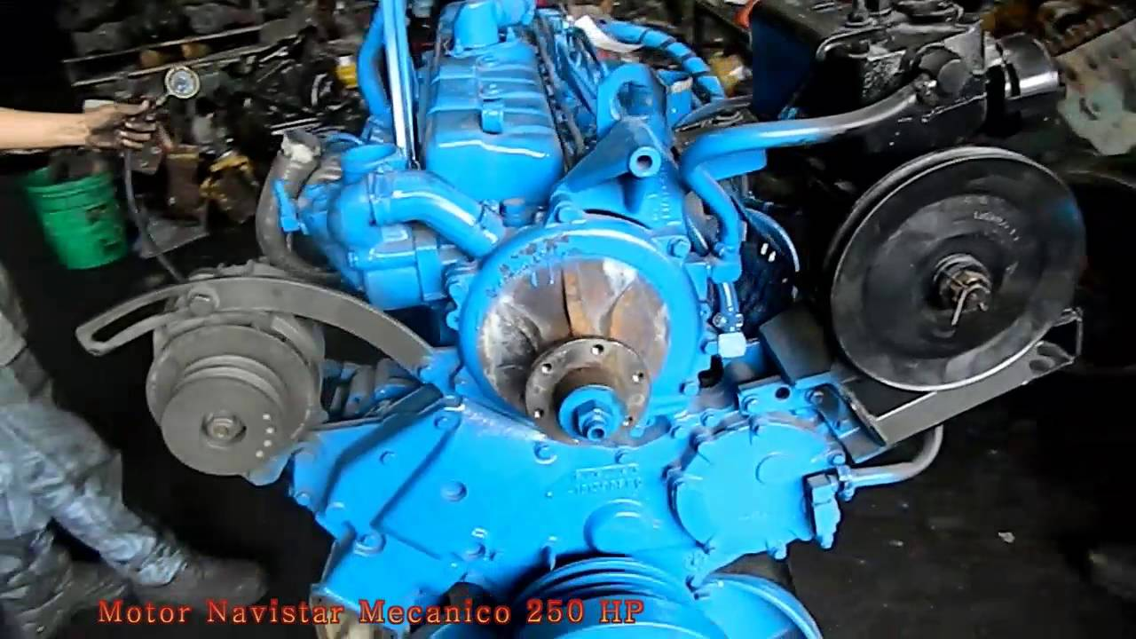 motor navistar mecanico 250 hp youtube rh youtube com International DT360 vs 12 Valve Cummins International DT360 Engine Swap