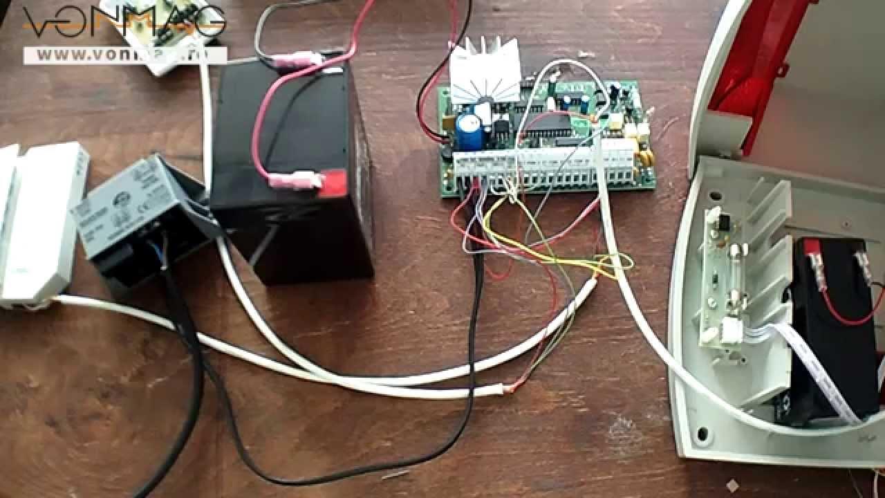 tutorial conectare componente sistem de alarma kit dsc 585 sir detector pyr 4122  [ 1280 x 720 Pixel ]