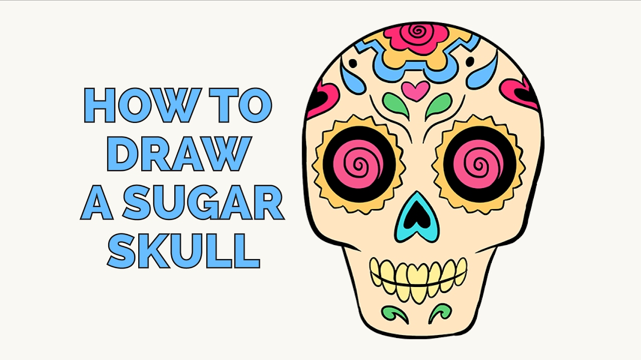 How To Draw A Sugar Skull   Easy Step By Step Drawing Tutorial