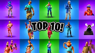 TOP 10 Skins d'été à Fortnite! (Fortnite Top 10 Skins Liste)
