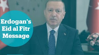 Turkey's President Erdogan delivers an Eid message to Muslims living in the US