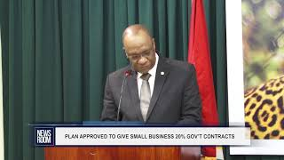PLAN APPROVED TO GIVE SMALL BUSINESS 20% GOV'T CONTRACTS