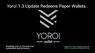 Yoroi update 1.3 can redeem paper wallets!  (February 2019 Update)