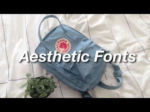 Aesthetic Fonts YouTubers Use!