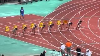 14年6月29日九州夏インカレ 女子100m予選1~3組