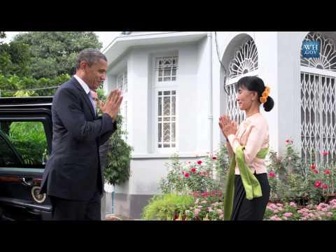 On Board With President Obama - Rangoon, Burma