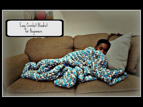 Easy Crochet Blanket For Beginners