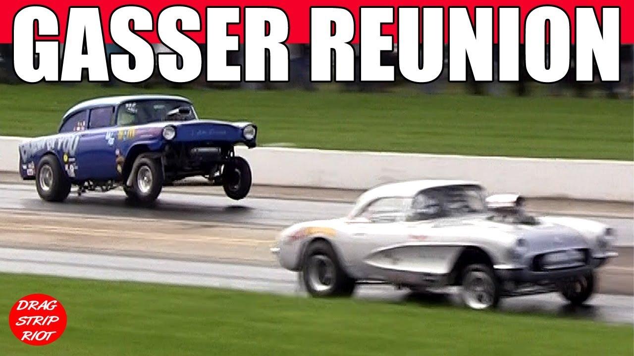 Gasser Reunion Nostalgia Drag Racing ScottRods AA Gassers Thompson Raceway  Park 2018