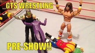 GTS WRESTLING: Pre-SHOW for PayBitch! WWE parody Mattel wrestling figures matches animation