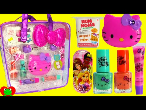 Hello Kitty Lip Gloss Nail Polish Num Nom Lip Balms and Surprises