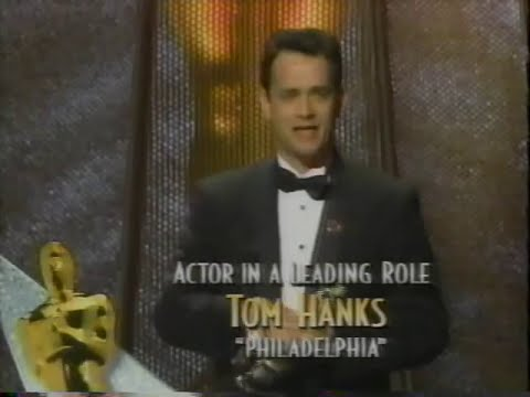 Tom Hanks winning Best Actor for Philadelphia