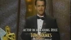 Tom Hanks winning Best Actor for Philadelphia