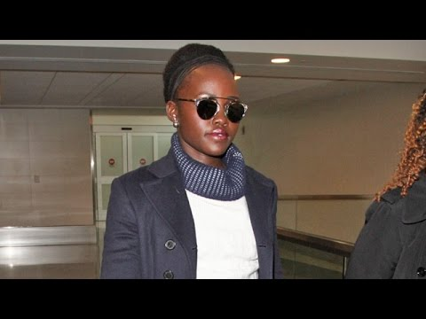 Star Wars Actress Lupita Nyong'o Looking Stylish At LAX