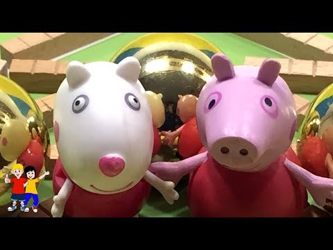 Peppa Pig Puzzle Learn English Numbers!!! Christmas tree Puzzle for the Kids toodlers education toys