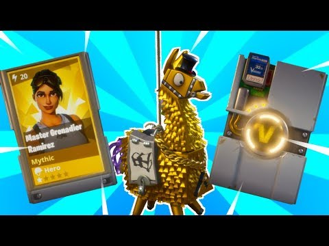 Double Mythic Heros! BEST LLAMA OPENING LOOT EVER!!!