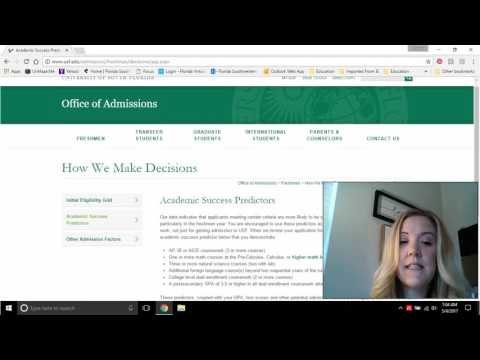 USF Competitive Admissions Process