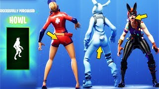 """ME AFTER FORTNITE RELEASED A NEW THICC SKIN""😂 *NEW* HOWL DANCE EMOTE SHOWCASED WITH ALL CHICAS 😍❤️"