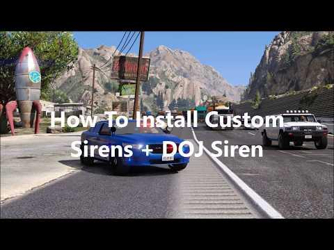 how to install modern siren pack gta v
