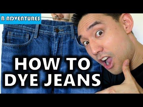 How To Dye Jeans, Blue Re-dye
