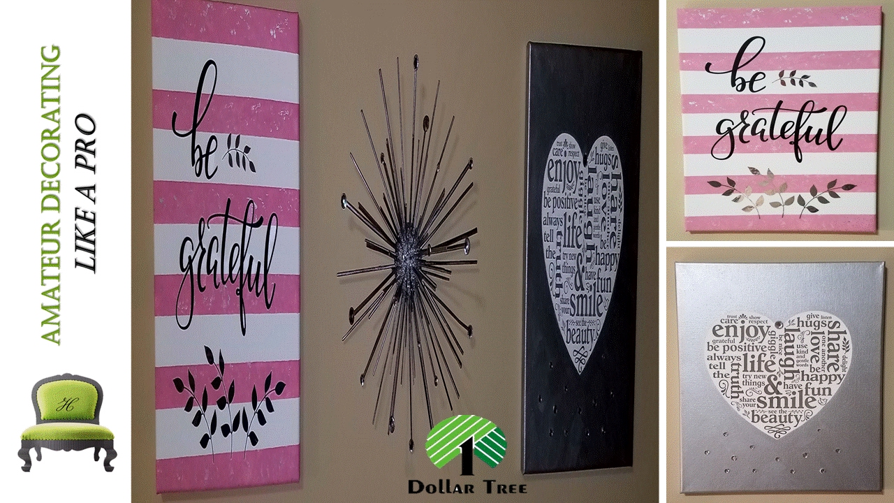 Dollar Tree Peel Stick Stickers Wall Art Kid Friendly DIY - Can you put a wall decal on canvas