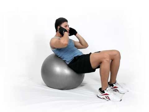 Gerakan Latihan Otot Perut - Crunch on Stilty Ball