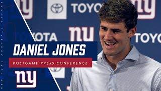 Daniel Jones REACTS TO win over Bucs
