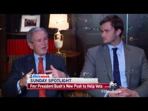 President G.W. Bush and Jake Wood from Team Rubicon on ABC 2/23/14