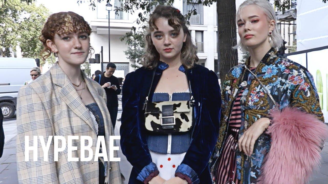 London Fashion Week Spring Summer 2019 Street Style - YouTube 585da0efda0