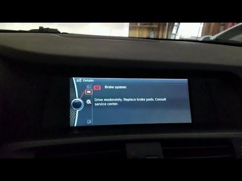 How to change front brake pads and brake pad sensor on 2010-2017 BMW X3 xDrive 35i (F25) - DIY