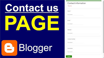 How to Create Contact Us Form in Blogger | Create Contact Us Page in Hindi