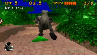 Running Wild (PS1) - Rex Gameplay