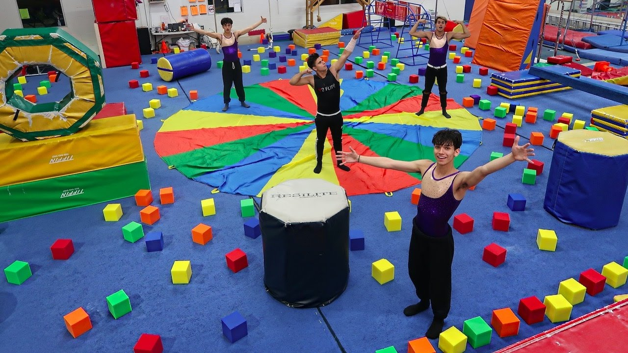 Super Insane Gymnastics Obstacle Course Youtube